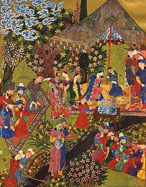 Banquet scene from the Shah-Nama