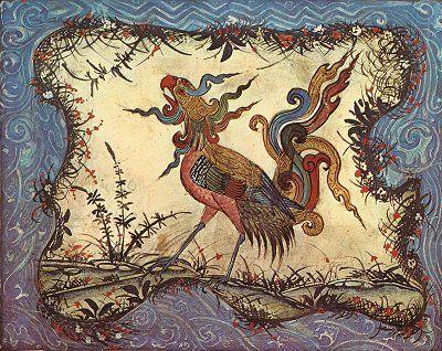 "The Phoenix, Ibn-Bukhtishu, ""Manafi' al-Hayawan""/""The Usefulness of Animals,"" Persian, 13th century"